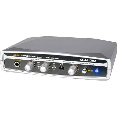 M-Audio MobilePre USB - 2 Channel USB Mic Preamp with XLR and 1/8