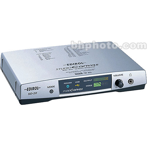Edirol / Roland SD-20 - USB-Powered MIDI Sound Module SD-20 B&H