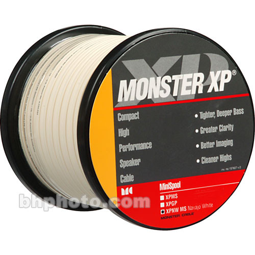 Monster Cable XP NW Compact Speaker Cable (16 Gauge) - Navajo White - 100'