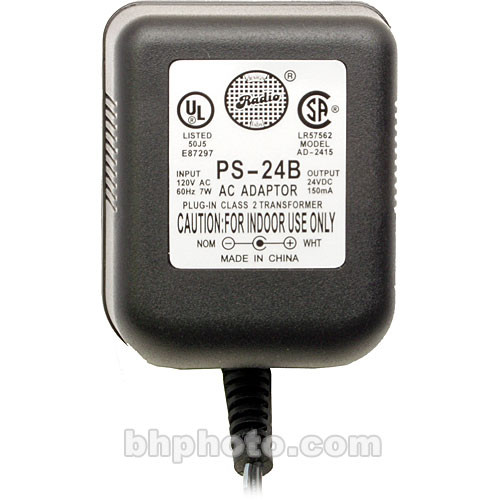 RDL PS-24B AC Adapter (Power Supply), 24vDC/150mA - with USA 2-Prong Plug