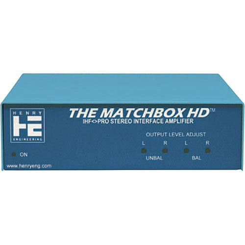 Henry Engineering THE MATCHBOX HD - Stereo Level Matching  Interface/Amplifier