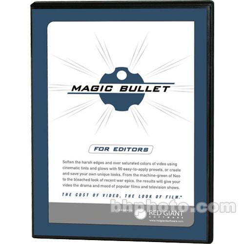 Red Giant Magic Bullet for Editors OEM - Film-Look Software Plug-in for  Final Cut, Vegas and Premiere Pro - Mac/Win