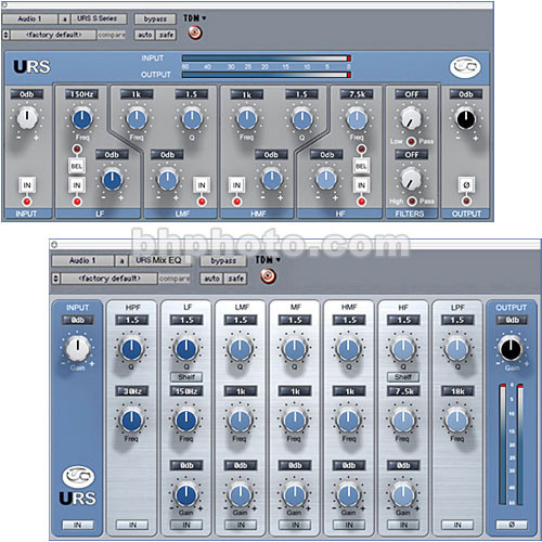 URS S Series Classic Console Mix Equalizer and URS MIX EQ Plug-Ins for  Digidesign TDM Systems - Mac and Windows XP