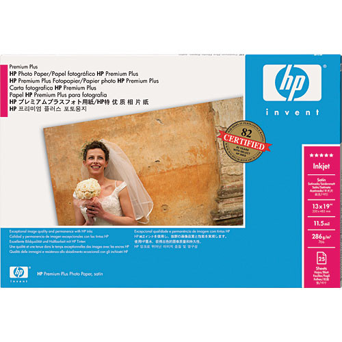 HP Premium Plus Photo Satin Paper for Inkjet - 13x19