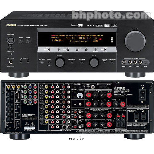 Yamaha HTR 5990 7 Channels, 980 Watts, XM Radio Ready, THX Select2, AB Switching, HDMI Interface, Home Theater Receiver