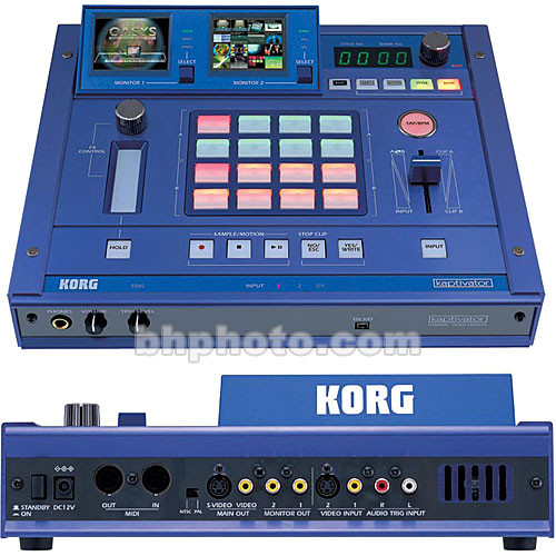 Korg Kaptivator Dynamic Video Station - VJ Mixer and Special Effects  Generator, Video Clip Storage, Composite (RCA), Y/C (4-Pin), NTSC/PAL,  Midi,