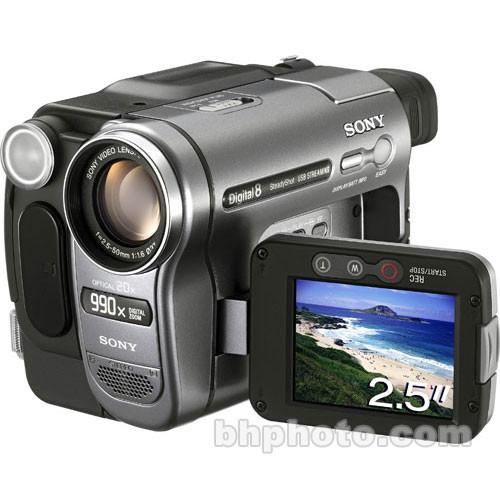 Sony DCR-TRV280 Digital-8 Camcorder, 20x Optical/990x Digital Zoom, B/W  Viewfinder, 2 5