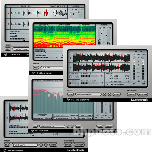 TC Electronic Restoration Suite 2 0 - Suite of Plug-Ins for PowerCore  Equipped DAWs - Mac OS X and Windows XP