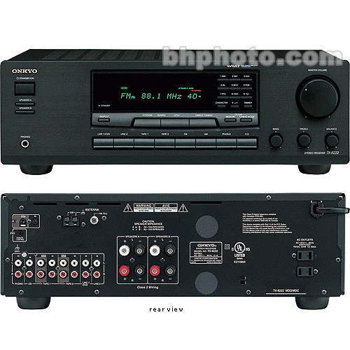 Onkyo TX-8222 50 Watts per Channel x2, AM/FM Tuner, Home Theater (Stereo)  Receiver