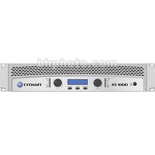 Crown Audio XTi 1000 Stereo Power Amplifier with DSP (275W/Channel @ 8 Ohms)