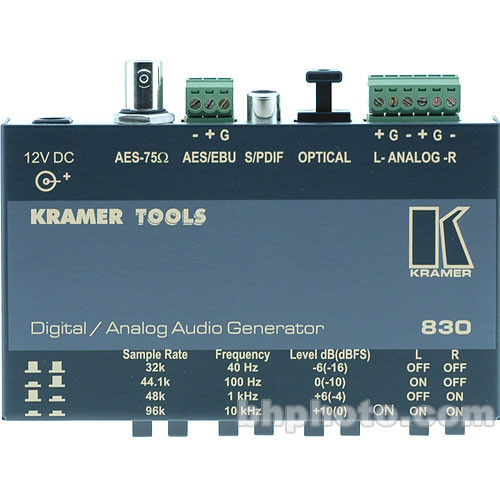 Kramer 830 Digital/Analog Audio Test Generator