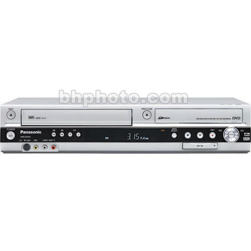 Panasonic DMR-ES35VS DVD Recorder/Player and VHS VCR Combo, DV Input -  Records to DVD-RAM, DVD-R/W, DVD+R/W Discs