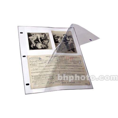 Pack of 25 Archival Methods Page Protector 3-Ring 10x11