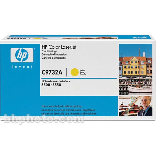 HP C9732A Yellow Toner Cartridge for 5500 5550 Series