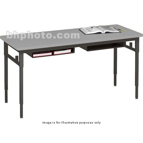 Bretford Quattro Student Classroom Desk 60 X 24 X 24 32 With Casters Grey Mist With Black Base