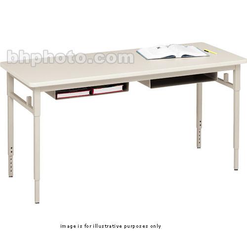 Bretford Quattro Student Classroom Desk 60 X 24 X 24 32 With Leveling Glides Grey Mist