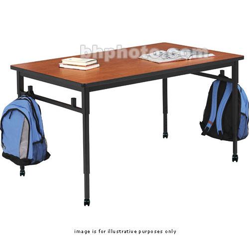 Bretford Quattro Student Classroom Desk 60 X 36 X 24 32 With Casters Wild Cherry With Black Base