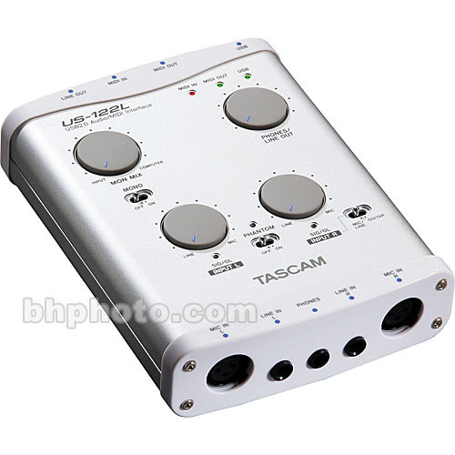 Tascam US-122L - 2 Input / 2 Output USB 2 0 Audio/MIDI Computer Interface -  Mac OS X and Windows XP
