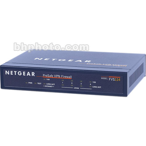 Netgear ProSafe VPN Firewall 8 with 4-Port 10/100 Mbps Switch