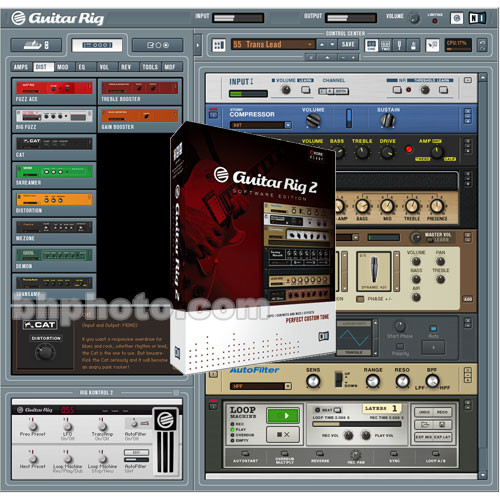 Native Instruments GUITAR RIG 2 Software Edition - Guitar/Bass Amplifier  and Speaker Software Emulator for Mac OS X and Windows XP