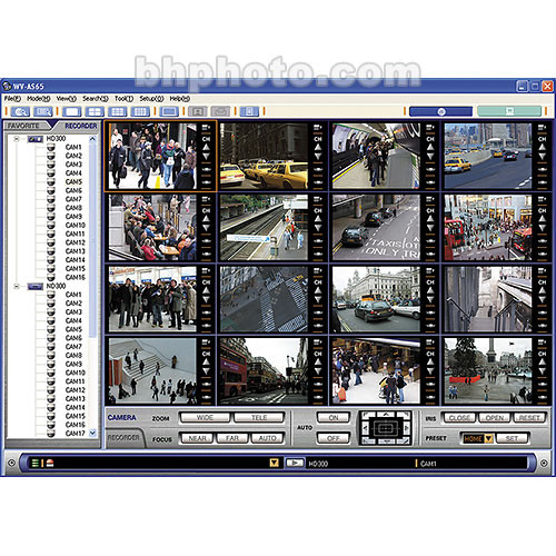 Panasonic WV-AS65 Management Software for WJ-ND300 Series Network Disk  Recorders