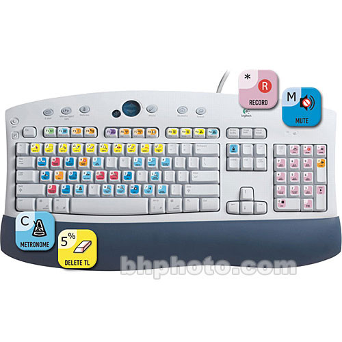 ASK Video Cubase Keyboard Set - Shortcut Stickers for PC or Mac Computer  Keyboards