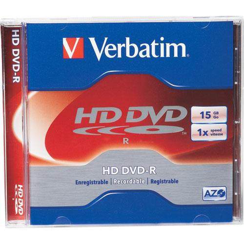 photograph regarding Printable Dvd Rohlinge named Verbatim High definition DVD-R 15GB 1x One-Layer Disc within Jewel Scenario