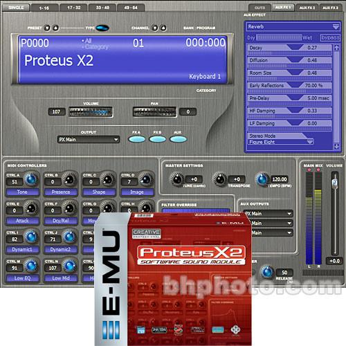 E-MU Proteus X2 - Software Sound Module with Xmidi 2x2 MIDI Interface -  Windows XP