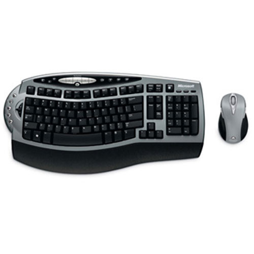 Microsoft Wireless Laser Desktop 4000 - Wireless Keyboard and Laser Mouse -  USB and PS/2
