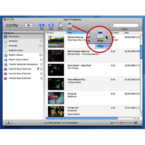 Elgato Upgrade to EyeTV 2 DVR Software for Mac