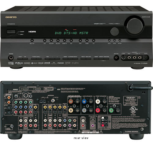 Onkyo TX-SR605B Home Theater Receiver (Black)