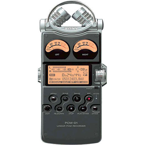 Sony DEMO - PCM-D1 - Portable 2-Channel Field Recorder with 4GB Internal  Flash Memory and Built-In X/Y Stereo Microphones