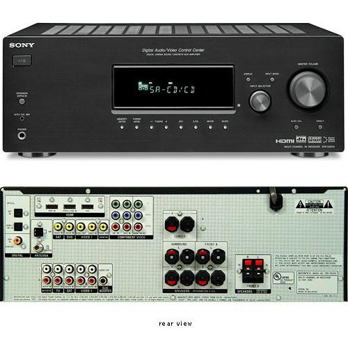 Sony STR-DG510 5 x 100W 5 1-Channel HDMI Home Theater Receiver - Built-in  Dolby Digital, Dolby Digital EX, Dolby Pro-Logic II, Digital Cinema Auto