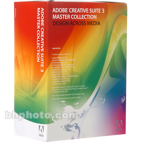 Adobe Upgrade from Single CS/Macromedia Suite to Master Collection CS3  Software Suite for Mac