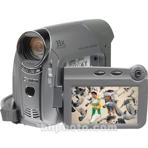 Canon MD-140 'PAL' Mini DV Camcorder, 35x Optical/1000x Digital Zoom, 1024  x 768 Still Image Resolution, Color Viewfinder, 2 7