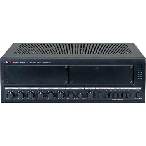 Inter-M Americas PAM-360A - Five-Zone Modular 70-Volt Amplifier and Six  Channel Mixer (360 Watt)