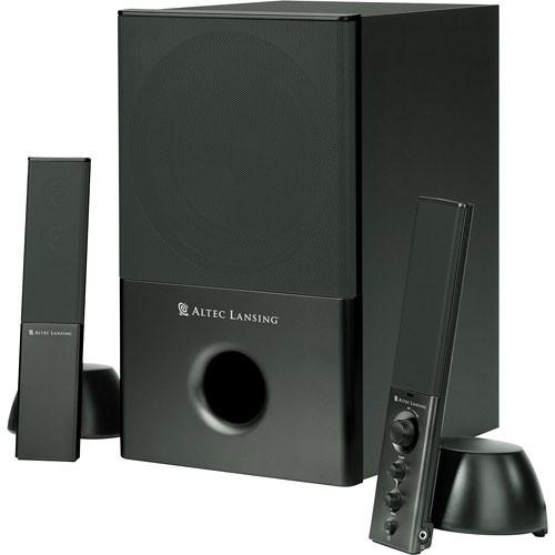 Altec Lansing VS4121 2 1 Channel Stereo Computer Speakers - 31W (Black)