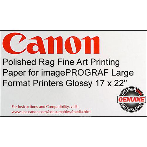 Canon Polished Rag Fine Art Printing Paper (Super C, 17 x 22