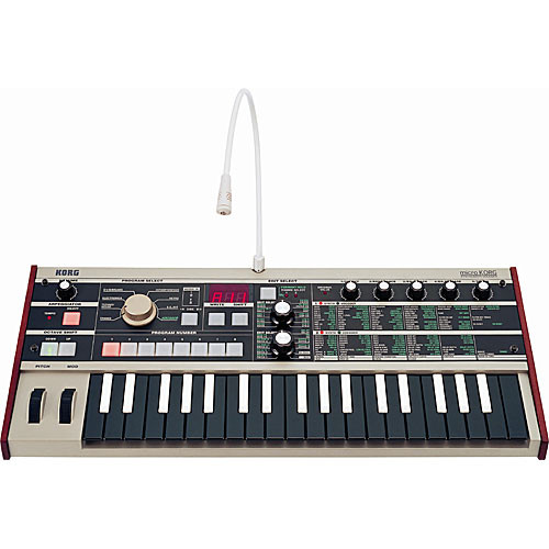 Korg microKORG 37-Key Synthesizer/Vocoder (Reverse-Color Keys)
