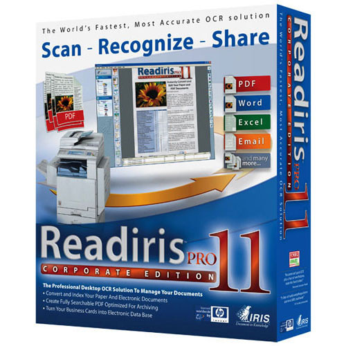 IRIS Readiris Pro 11 Corporate Edition Software for Windows (5-24 User  License)