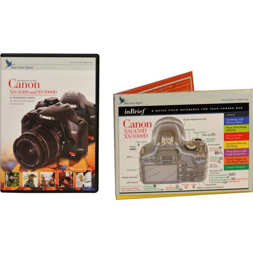 Blue Crane Digital DVD and Guide: Combo Pack for the Canon EOS Rebel XSi  Digital SLR Camera