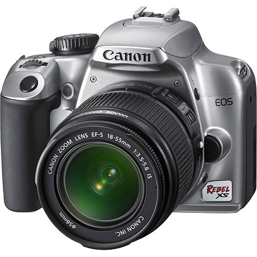 Canon EOS Rebel XS (a k a  1000D) SLR Digital Camera Kit (Silver) with  18-55mm IS Lens