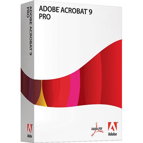 Adobe Acrobat 9 Pro Software for Windows