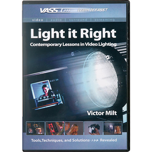 Books Dvd Light It Right Contemporary Lessons In Video Lighting By Victor Milt