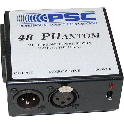 PSC 48 PHantom - Single Channel Battery Operated Phantom Power Supply