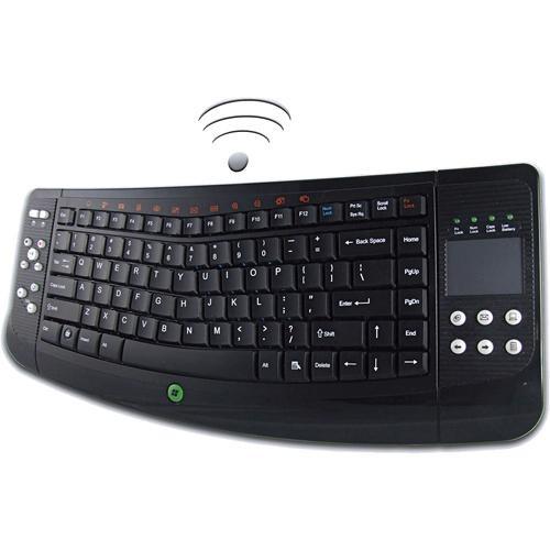 Adesso WKB-4100UB Wireless SlimTouch Ergo Keyboard with Touchpad