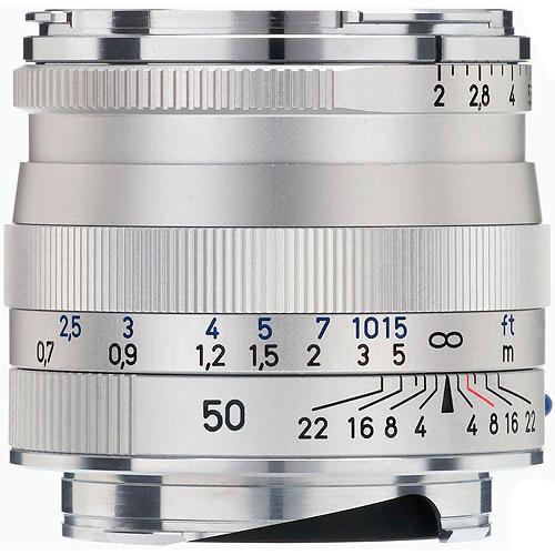 ZEISS Planar T* 50mm f/2 ZM Lens (Silver)