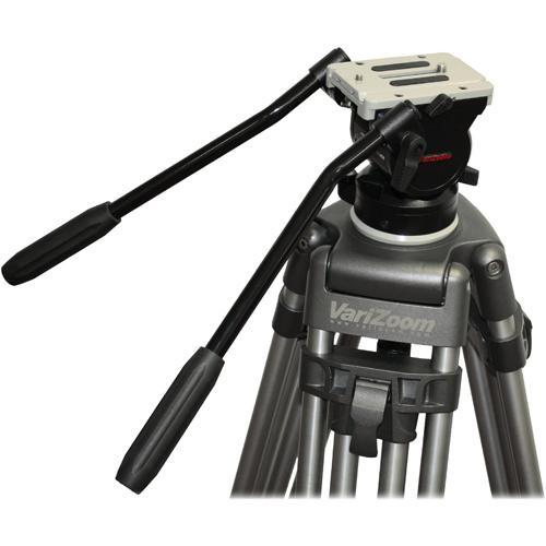 VariZoom 100mm FLUID TRIPOD HEAD w/DUAL HANDLE