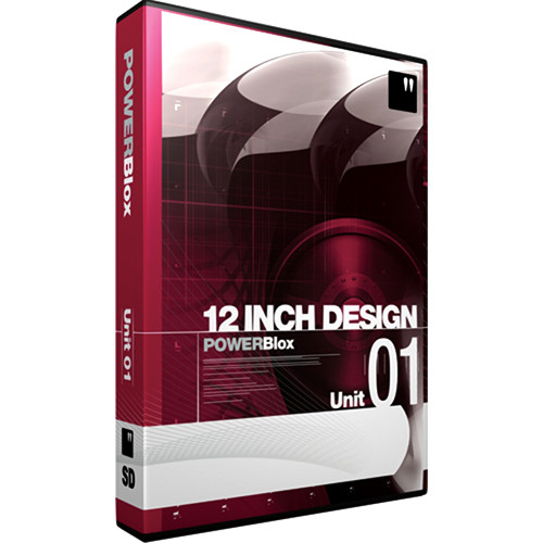 12 Inch Design PowerBlox Unit 01 - General Purpose Royalty-Free Animated  and Static Motion Graphics Elements - NTSC - DVD