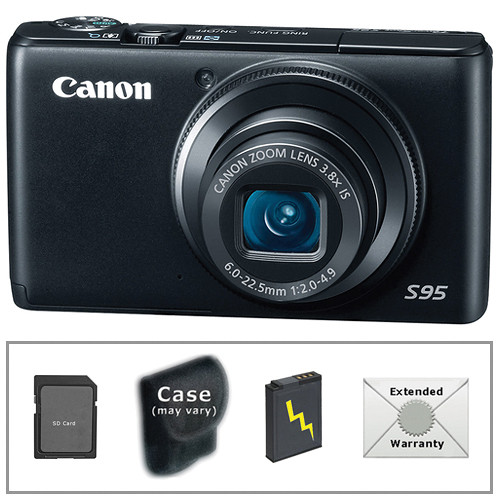Canon Powershot S95 Digital Camera With Deluxe Accessory Kit